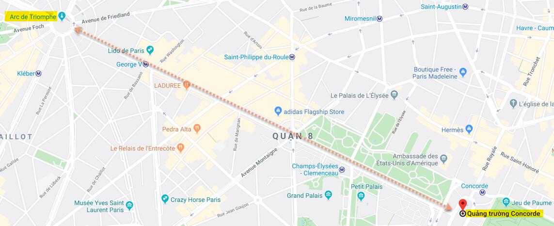 Khải Hoàn Môn Arc de Triomphe Tại Paris Pháp