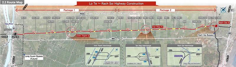 Tuyến đường cao tốc Lộ Tẻ – Rạch Sỏi sắp khánh thành