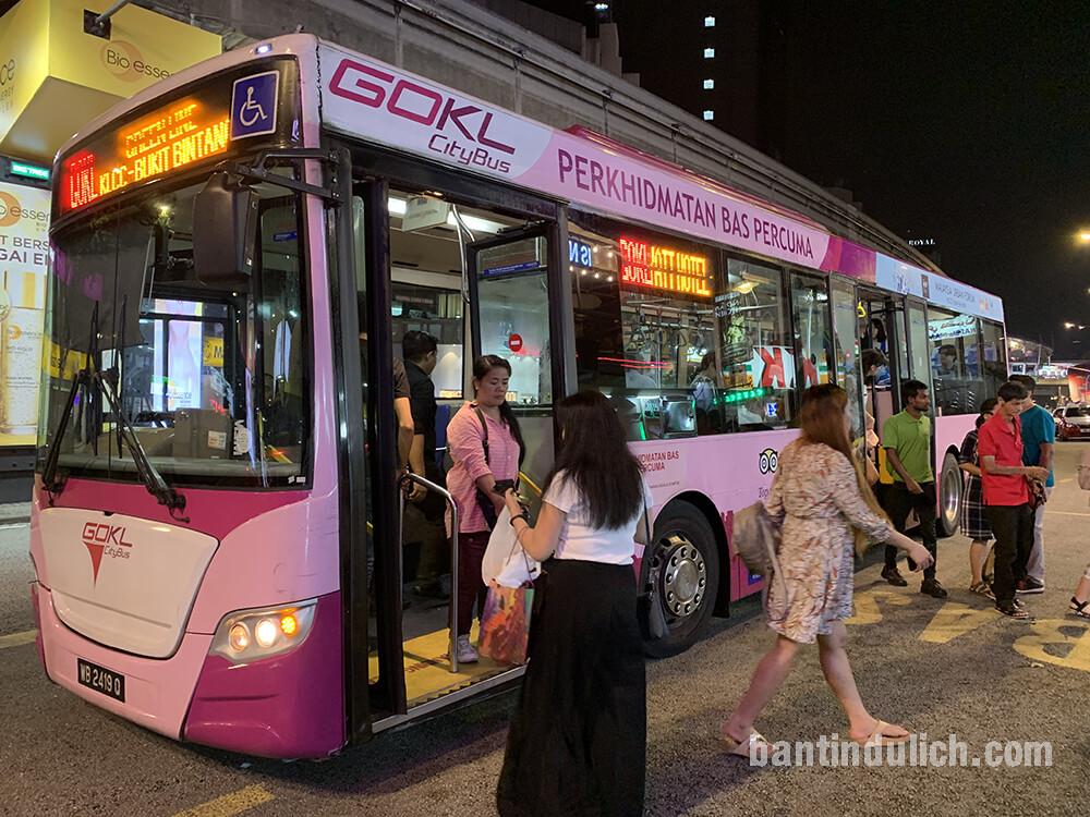 Tuyến xe Buýt miễn phí tại Kuala Lumpur Malaysia