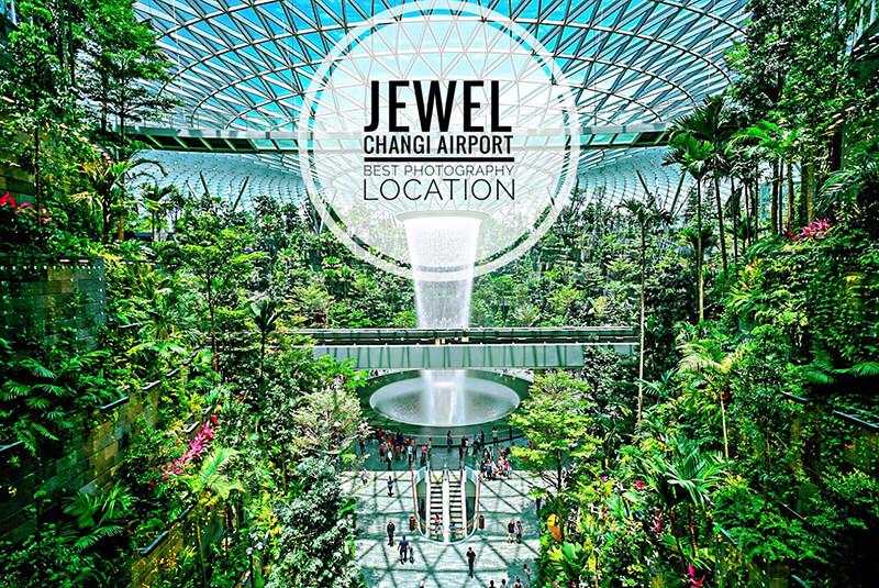Khu tham quan mua sắm thác nước Jewel Changi Airport Singapore
