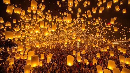 Lễ hội hoa đăng Yi Peng và Loy Krathong Thái Lan