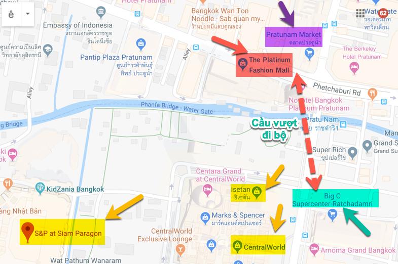 Trung tâm mua sắm bán sỉ và hàng hiệu của Bangkok nằm ở đâu?